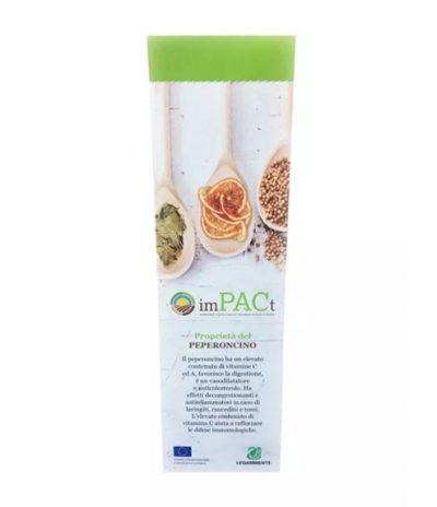 Fronte Segnalibro Eko Bookmark in Carta Riciclata Con Semi di Peperoncino per Progetto impPACt
