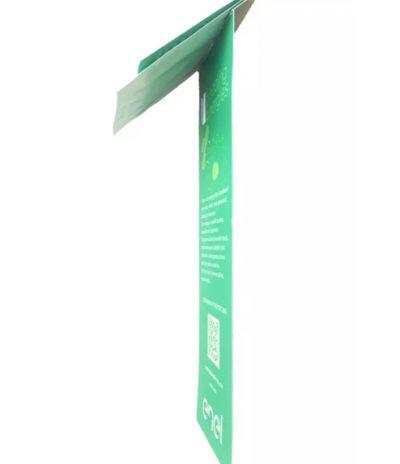 Vista Laterale del Segnalibro Eko Bookmark in Carta Riciclata per Enel