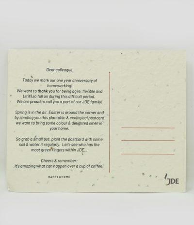Cartolina Piantabile Retro per Progetto JDE