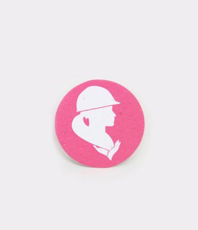 Etichetta in Carta Piantabile Rotonda Esempio di Personalizzazione Colore Rosa
