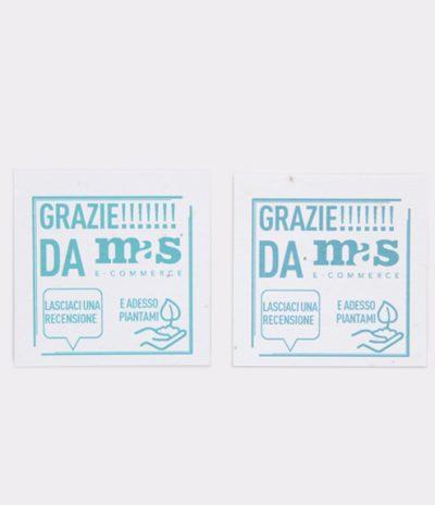 Etichetta in Carta Piantabile Quadrata per Mas E-Commerce Fronte