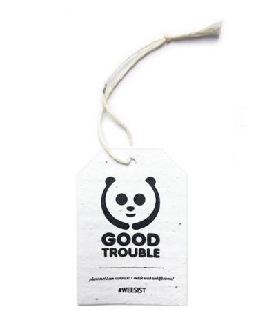 Etichetta in Carta Piantabile per Good Trouble Fronte