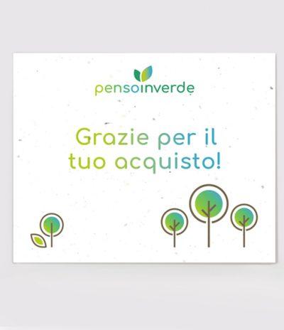Inviti & Volantini in Carta Piantabile per Penso in Verde