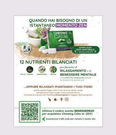 Inviti & Volantini in Carta Piantabile per Chewing Calm