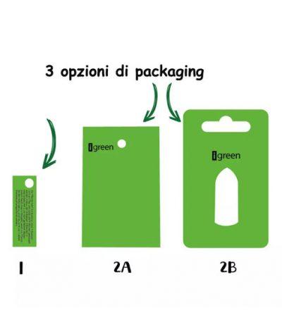 Portachiavi Mini Cactus con Template per Personalizzazione Packaging