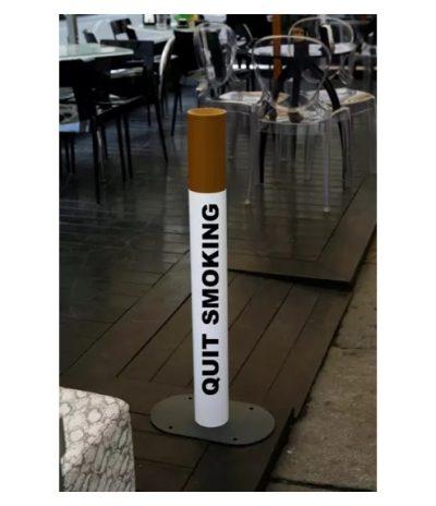 Posacenere Ecologico in Acciaio per Luoghi Esterni a forma di Sigaretta Personalizzato