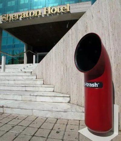 Contenitore U-Trash Rosso per Raccolta Differenziata