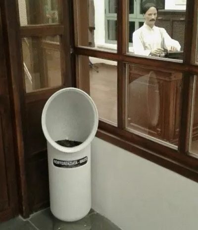 Contenitore U-Trash Bianco per Raccolta Differenziata per Hotel