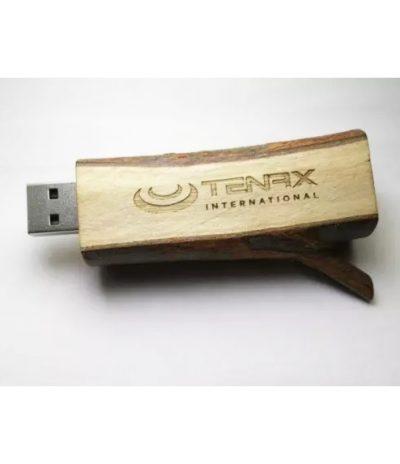USB in forma di Rametto d'Albero con Legno Naturale per Tenax