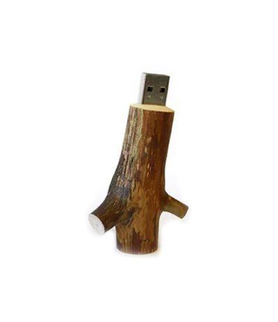 USB in forma di Rametto d'Albero con Legno Naturale Retro