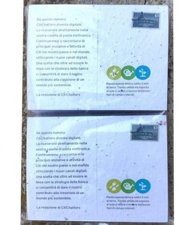 Retro Inviti & Volantini in Carta Piantabile per Progetto Citi Group