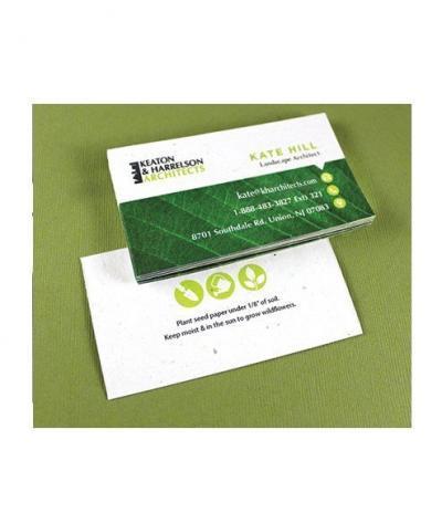 Biglietto da Visita in Carta Piantabile per Progetto Keaton & Harrelson Architetcs