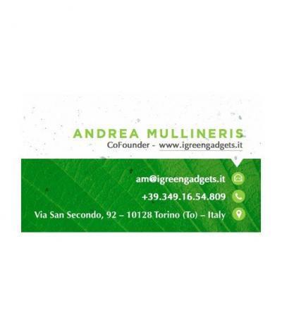 Biglietto da Visita in Carta Piantabile con Esempio di Personalizzazione