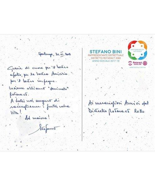 Cartolina Piantabile   Cartoline Piantabili Personalizzate