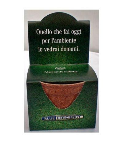 Green Espresso Vasetto Compostabile in Lolla di riso Confezione Personalizzata per Mercedes Benz