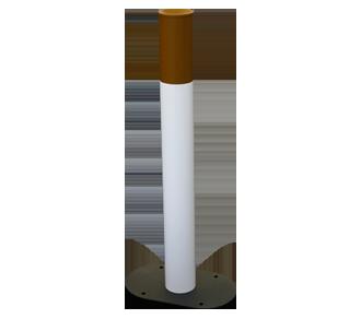Posacenere Ecologico in Acciaio per Luoghi Esterni a forma di Sigaretta
