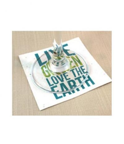 Sottobicchiere in Carta Piantabile | Forma Quadrata con Personalizzazione Live Growth Love the Earth