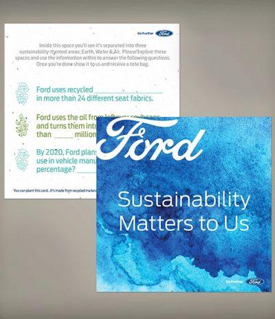 Sottobicchiere in Carta Piantabile per Ford a Forma Quadrata