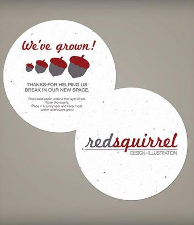 Sottobicchiere in Carta Piantabile per Redsquirrel a Forma Rotonda