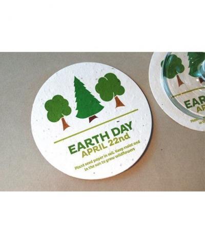 Sottobicchiere in Carta Piantabile per Earth Day