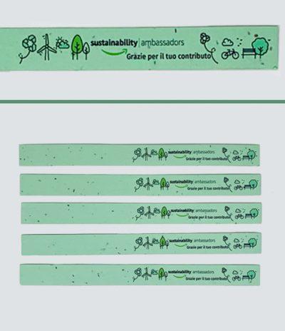 Braccialetti in Carta Piantabile per Amazon con Colore Carta Verde
