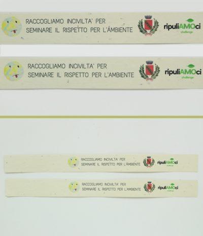 Braccialetti in Carta Piantabile per RipuliAmoci Carta Crema