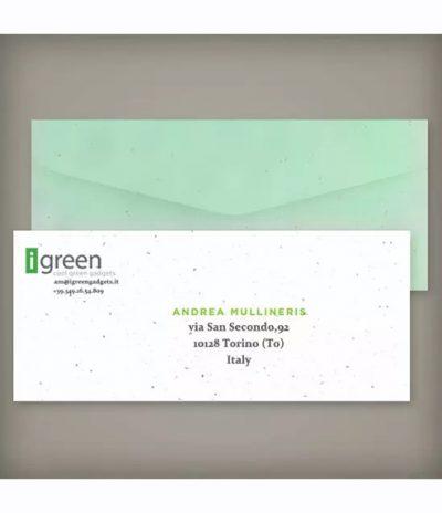 Busta in Carta Piantabile per Progetto iGreen Gadgets