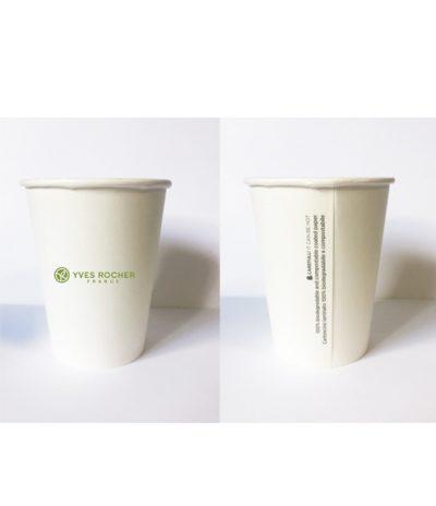 Bicchieri Biodegradabili e Compostabili con Personalizzazione per Yves Rocher