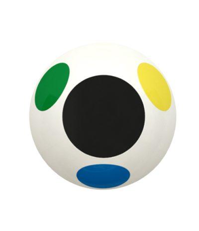 Cestino a Forma di Ovetto di Colore Blu/Giallo/Verde/Bianco con 3 ante