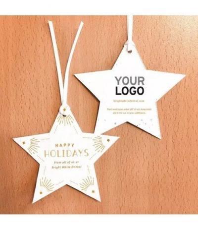 Stella di Natale in Carta Piantabile con personalizzazione Happy Holidays