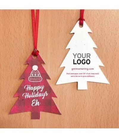 Alberelli Natalizi in Carta Piantabile con personalizzazione Happy Holidays
