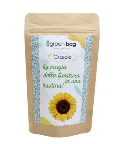 iGreen Bag La Busta biodegradabile con Semi di Girasole