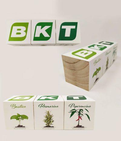 Cubo in legno iGreen Cube 7.5x7.5 cm Esempi di Personalizzazione per BKT