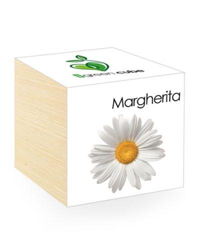Cubo in legno iGreen Cube 7.5x7.5 cm Margherita con Confezione avvolgente Standard