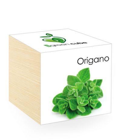 Cubo in legno iGreen Cube 7.5x7.5 cm Origano con Confezione avvolgente Standard