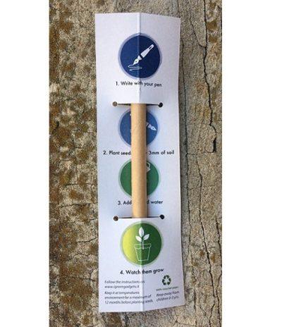 La Penna con Semi Piantabile con Personalizzazione Cartoncino per Econoamid Retro