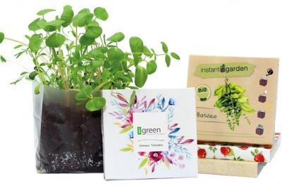 Instant Garden Giardini Tascabili Esempi di Packaging con Piantina