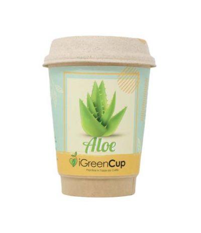 iGreen Cup Tazza da Caffè Bio con Fiori & Piante Seme Aloe