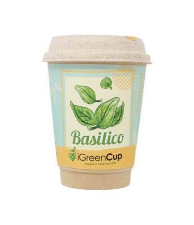 iGreen Cup Tazza da Caffè Bio con Fiori & Piante Seme Basilico