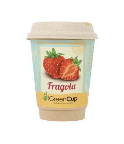 iGreen Cup Tazza da Caffè Bio con Fiori & Piante Seme Fragola
