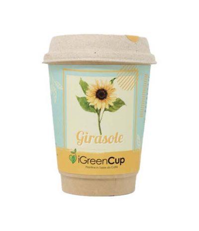 iGreen Cup Tazza da Caffè Bio con Fiori & Piante Seme Girasole