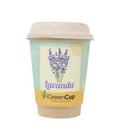 iGreen Cup Tazza da Caffè Bio con Fiori & Piante Seme Lavanda