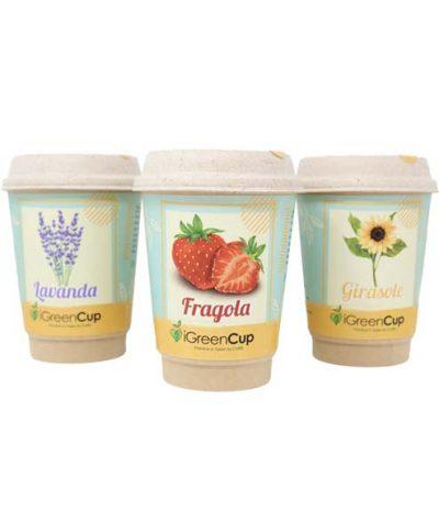 iGreen Cup Tazza da Caffè Bio con Fiori & Piante Mix di Semi