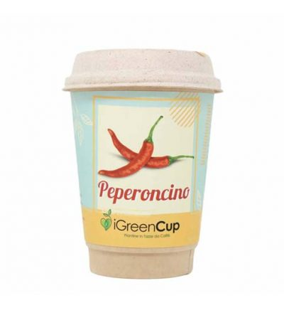 iGreen Cup Tazza da Caffè Bio con Fiori & Piante Seme Peperoncino