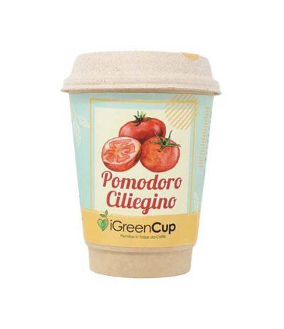 iGreen Cup Tazza da Caffè Bio con Fiori & Piante Seme Pomodoro Ciliegino