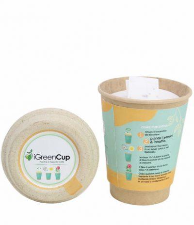 Composizione iGreen Cup Tazza da Caffè Bio con Fiori & Piante