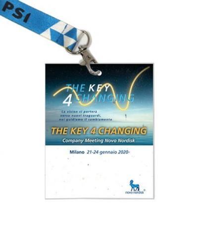 Render Badge in Carta Piantabile per The Key 4 Changing