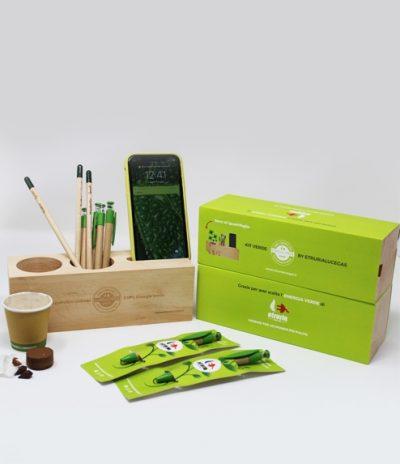 Eco Organizer Porta Penne/Matite & Appoggia Telefono e Personalizzazione Penne e Pack per Etruria