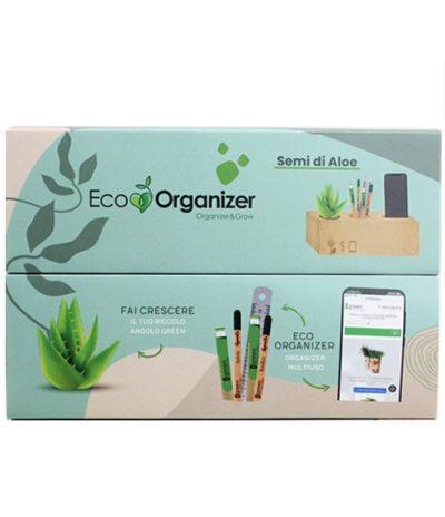 Eco Organizer Porta Penne/Matite & Appoggia Telefono con Aloe