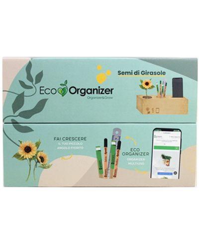 Eco Organizer Porta Penne/Matite & Appoggia Telefono con Girasole